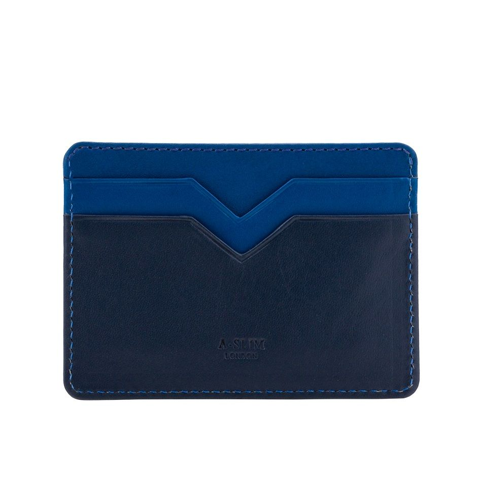A-SLIM Minimalist Leather Wallet Yaiba - Blue